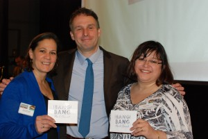 Congrats to Norma Romanowski and Neida Hernandez-Santamaria (pictured with President Potash), winners of the Bang Bang Pie Shop gift certificates! Happy Pi(e) Day!