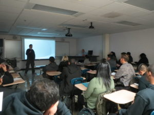 Joseph Simons, of video game developer Iron Galaxy Studios spoke to CIS-101 students about IT career opportunities.
