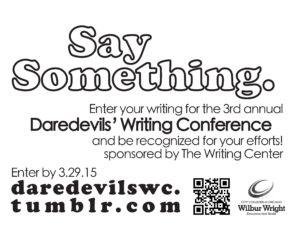 Event.Daredevils Writers Conference.041615