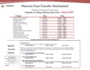 Click here for the Wright College Schedule of Transfer Activities!