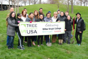 """Wright College students, faculty and staff gather to celebrate Earth Day 2015 - and for being named a """"Tree City USA"""" by the Arbor Day Foundation (fifth year in a row!)."""