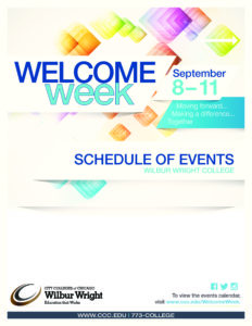 WR Welcome Week Schedule Front Cover