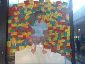 "Check out the ""Transfer Turkey"" in Campus Center, featuring the transfer destinations of Wright students!"