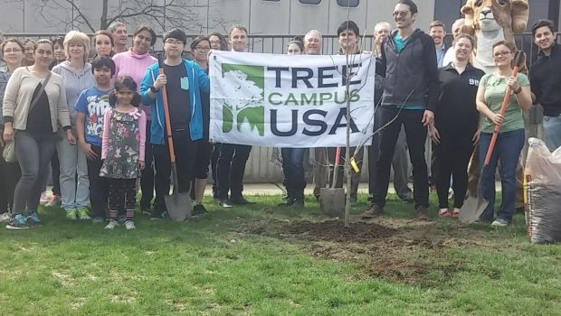 Wright College group photo celebrating Earth Day 2016