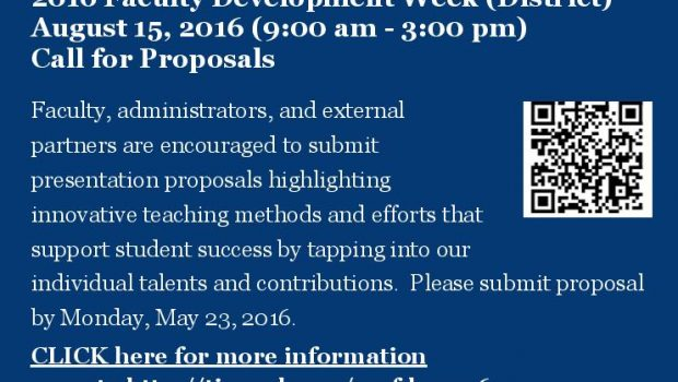 2016 Faculty Call for Proposals Flyer